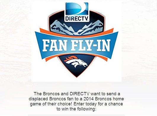 Win a trip to see the Broncos play in Denver