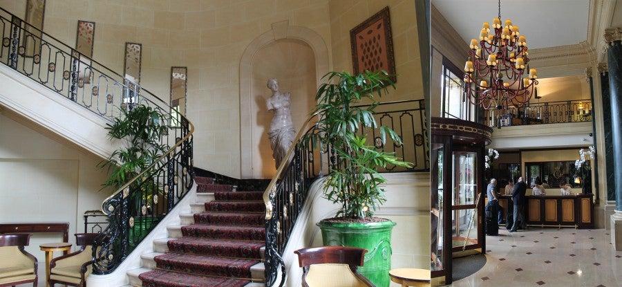 The lobby at the Hôtel du Louvre