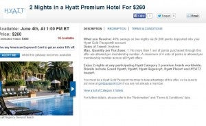 Hyatt Gold Passport points