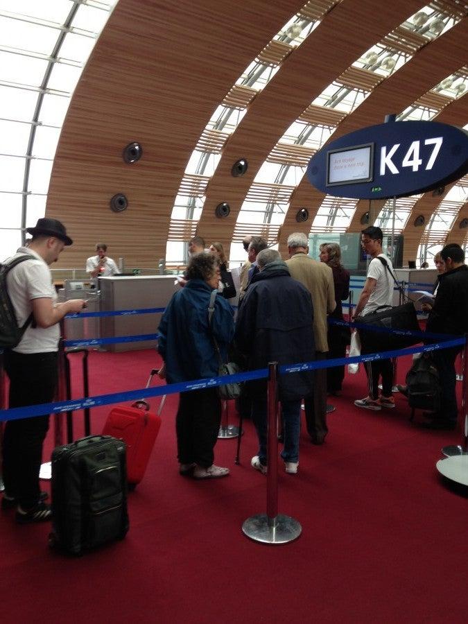 Boarding for Flight AF010, CDG to JFK