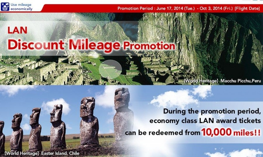 Get mileage discounts for booking LAN award tickets on JAL.