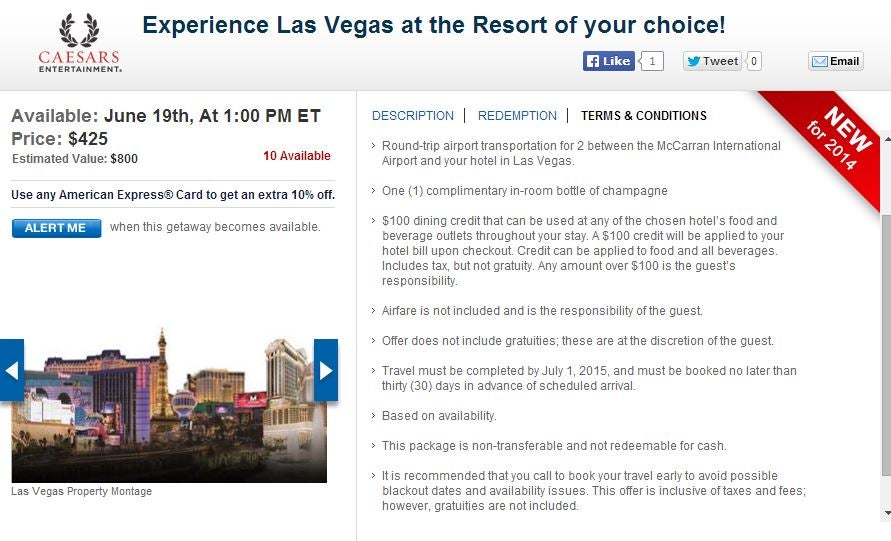 Week 5 Las Vegas hotel deals