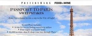 Win a trip to Paris