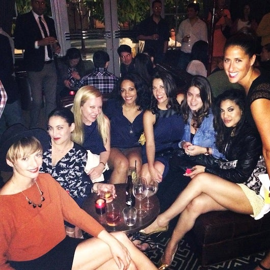 Typical night out with the girls sampling the best cocktails in town at the Regent Cocktail Club in South Beach