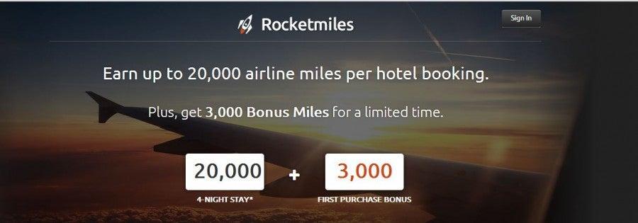Rocketmiles 3,000 bonus offer extended until July 4