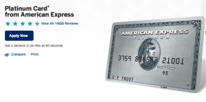 If you get a 100,000-point sign-up bonus for the Platinum card, hop on it