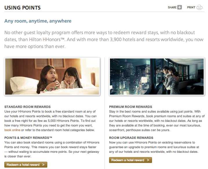 Using Hilton HHonors Points