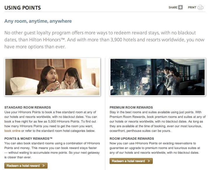 Using Hilton HHonors Points