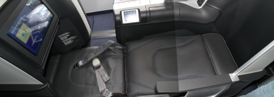 """Fully lie-flat beds up to 6'8"""", the longest in US domestic business class"""