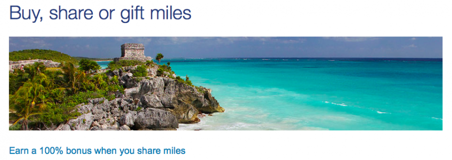 US Airways Share Miles Bonus
