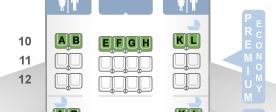 AF 010 Premium Economy Seat Configuration