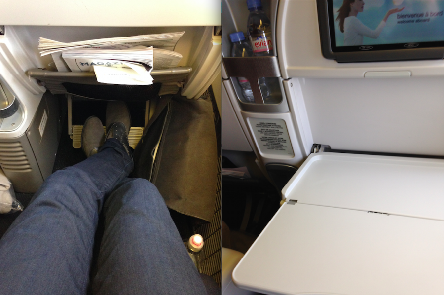 Lots of leg room and plenty of tray space in Premium Economy are a big plus!