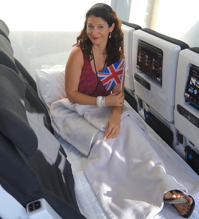 TPG's own Assistant Editor Melanie Wynne enjoying the new ANZ Skycouch