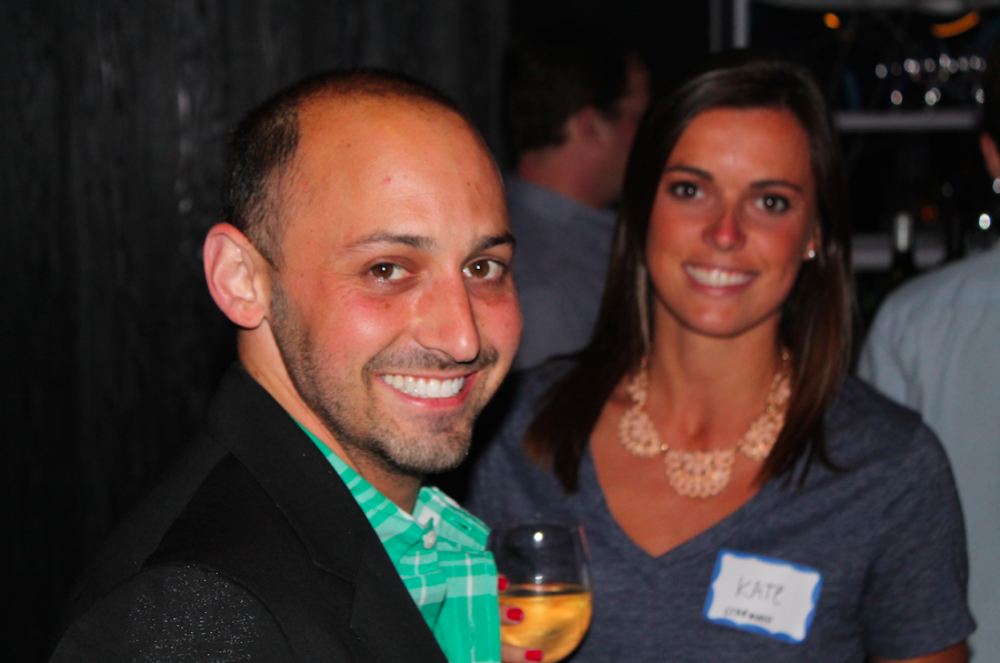 TPG Creative Director Adam Daniel Weiss and Director of Operations Kate O'Brien at the TPG Reader Event - W Lakeshore Chicago