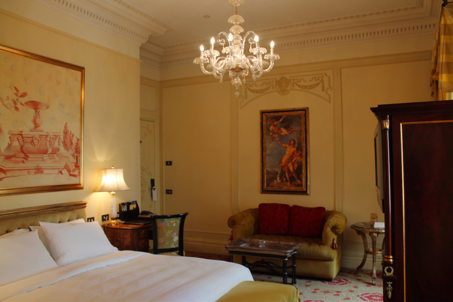 Another view of the Superior King Room at the St. Regis Grand Rome