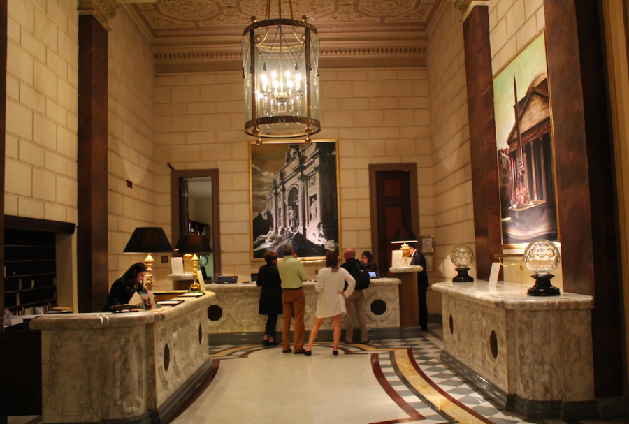 Reception area for the St. Regis Rome