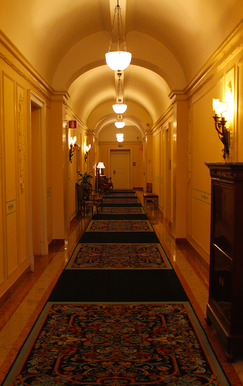 A grand hallway fits a grand property!