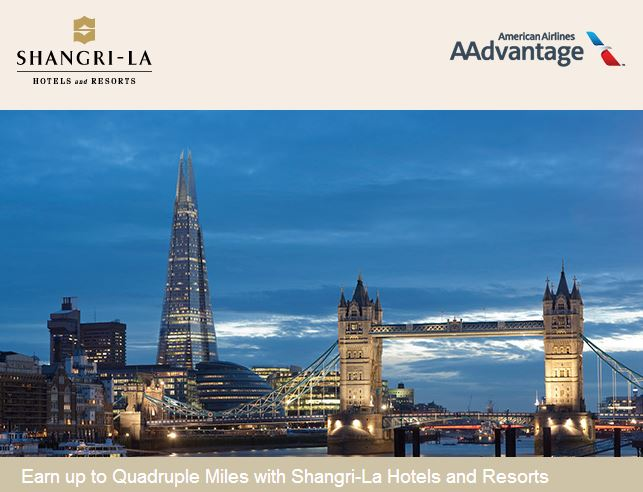 Earn bonus AAdvantage miles for Shangri-La stays