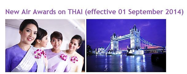 Thai Airways is changing (and not for the better) their award chart pricing