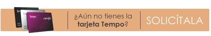 The Tarjeta Tempo, is the RENFE's loyalty program card