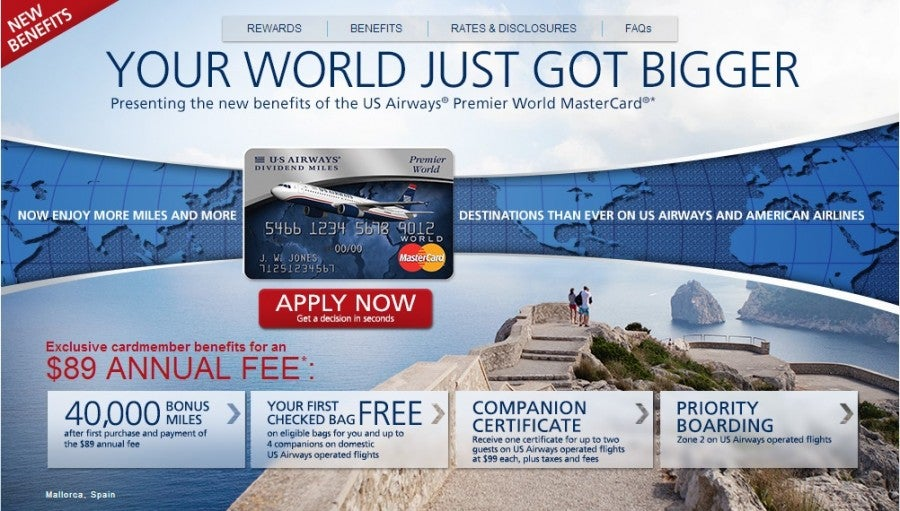Get the US Airways card while you still can.