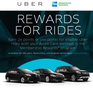 New American Express Membership Rewards and Uber partnership