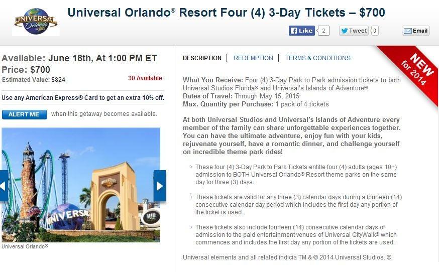 Daily Getaways for Universal Studios Orlando