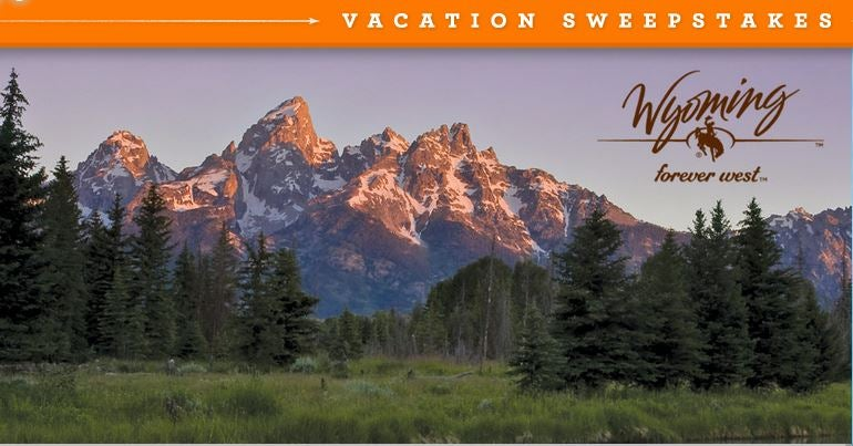 Win a trip to Wyoming