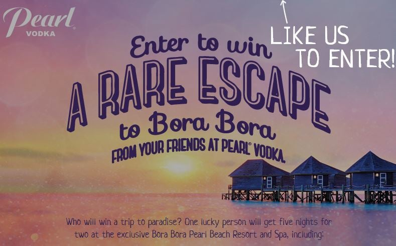 Win a trip to Bora Bora