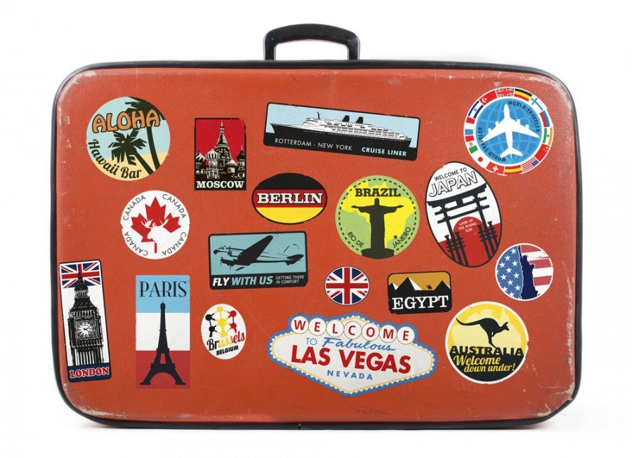 Time for a luggage upgrad seakimski! Image courtesy of Shutterstock