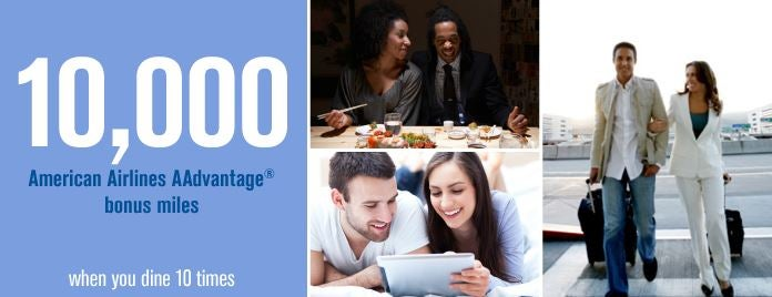 Get 10,000 AAdvantage bonus points by dining 10 times