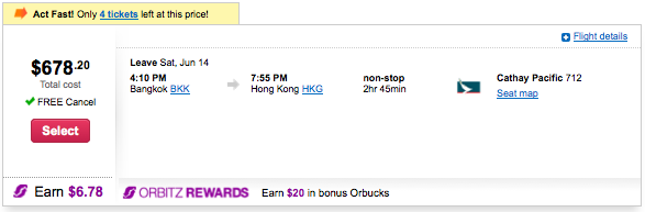 The Cathay flight I needed was pricing out at nearly $700!