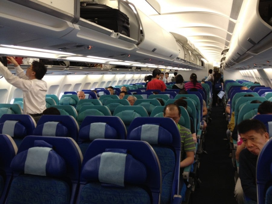 A shot of the economy cabin.