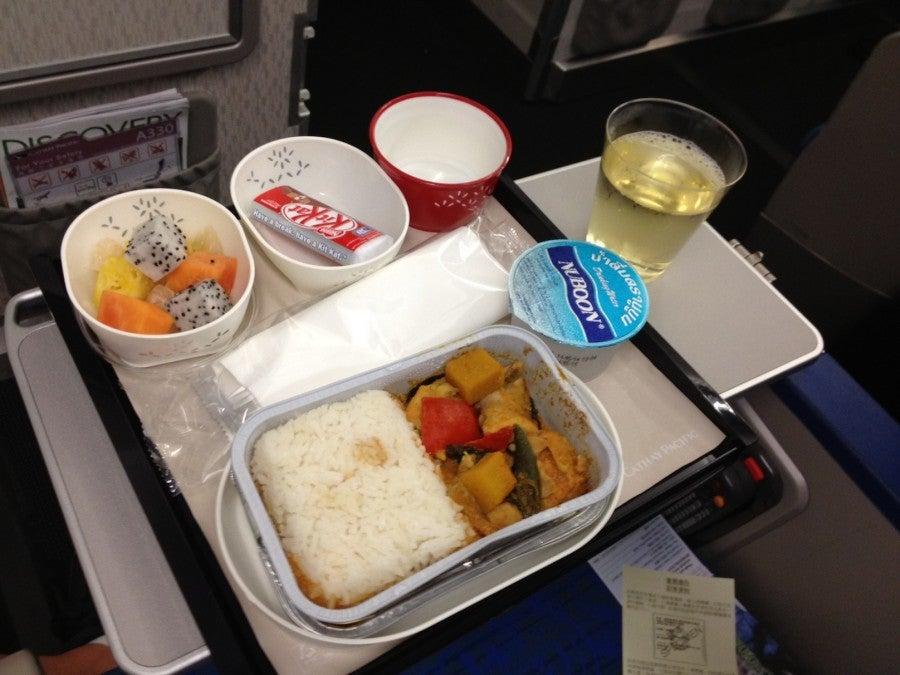 My dinner tray from the flight.