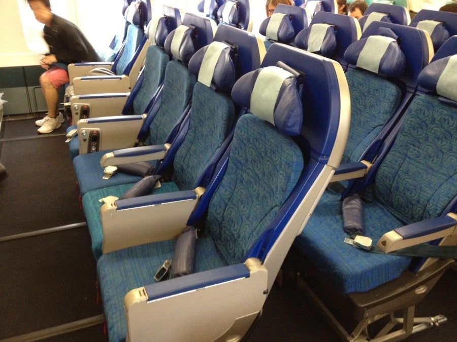 Economy seats on the Cathay A330.