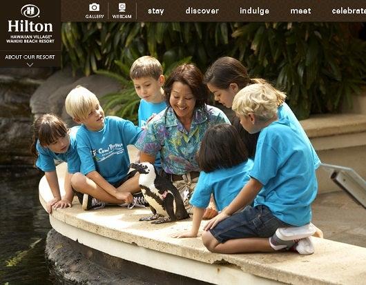 Hilton's Club Penguin at their Hawaiian Village resort looks pretty fun.