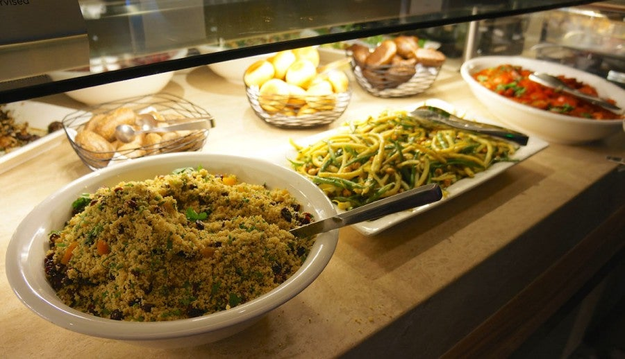 The sheer array of salads at the buffet is impressive - and this is only a few of them