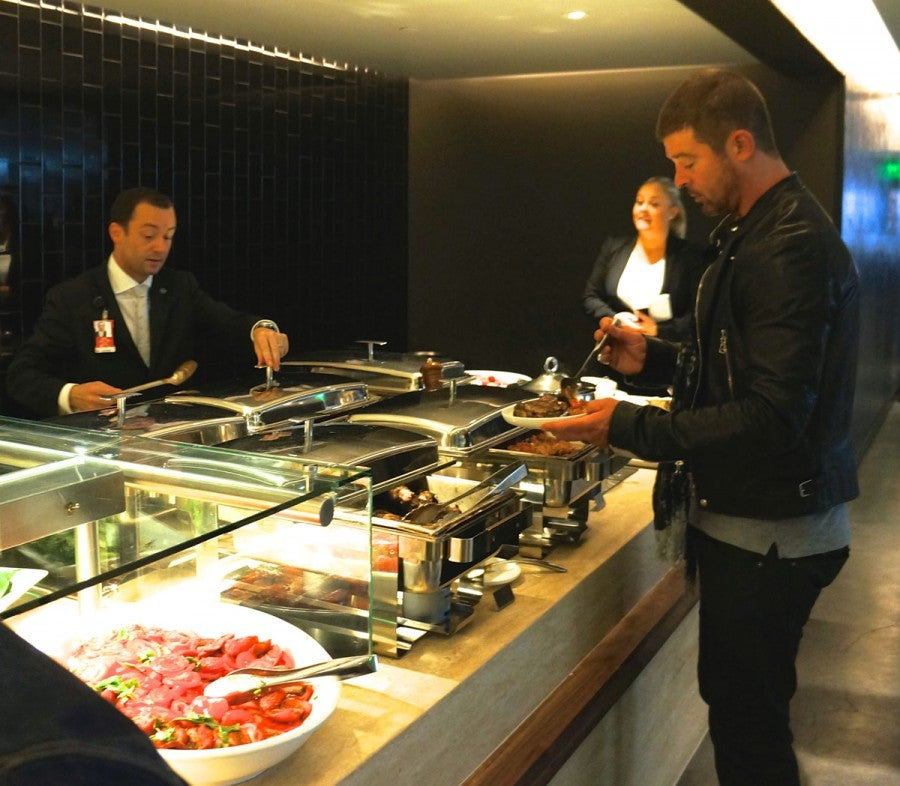 At the lounge's buffet, keep your eyes peeled for celebrities - like, say, Robin Thicke