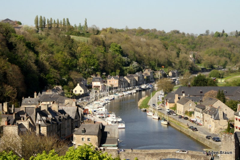 View of Dinan and the Rance River