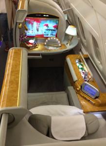 Emirates first class via Alaska Airlines