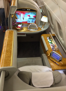 Emirates first class via Alaska Airlines