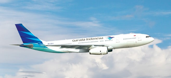 Garuda awards miles based on how far you fly.