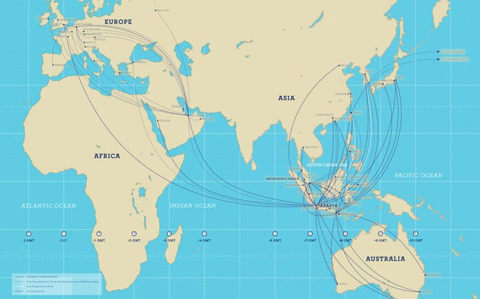 Garuda only has a few international destinations...for now.
