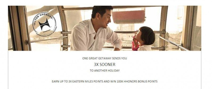 Win 100,000 Hilton HHonors points.