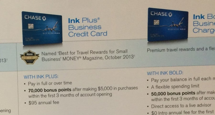 Ink Plus 70k bonus