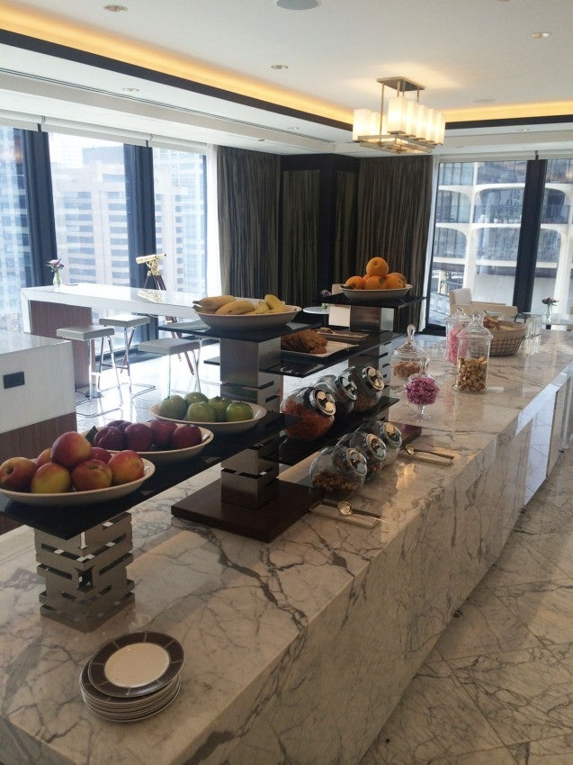 The Club Lounge's all-day spread