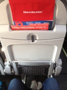 I was fine, but the seats can be a tight fit.