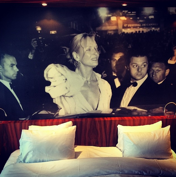 It's not every hotel, like the JW Marriott Cannes, that allows you to spend the night with Uma Thurman
