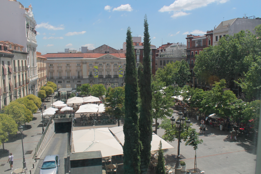View from Room 212 of the Plaza Santa Ana