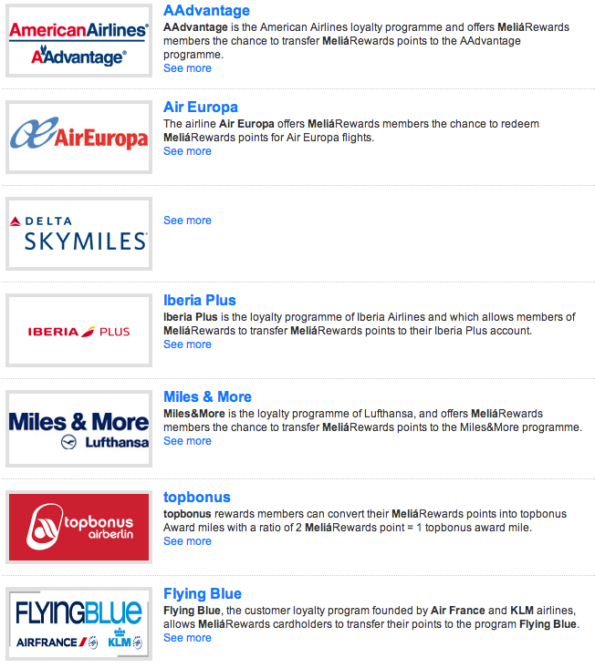 Although the Delta SkyMiles is a dead link, the brand has a few good transfer options